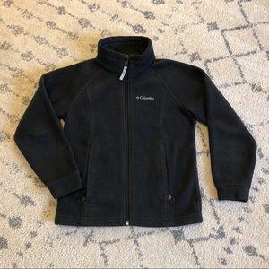 Black Columbia Fleece Jacket 🌤 Size 7/8